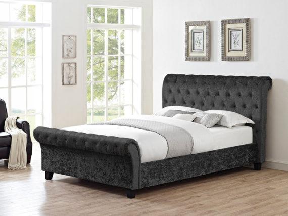 Celine Double Bed - Black